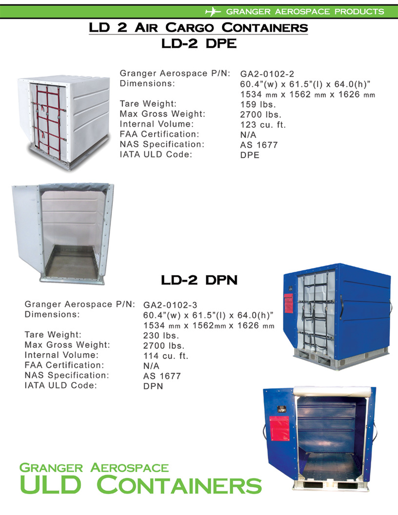 LD 2 Specifications, Dimensions, LD 2 Air Cargo Container Dimensions, DPE Dimensions, DPN dimensions